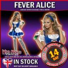 FANCY DRESS COSTUME # Fever Alice Costume Small 8-10
